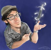 SELF CARICATURE by JaumeCullell