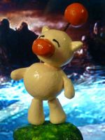 Moogle Sculpey figurine by kittenangel116