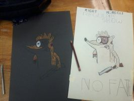 Regular Show: No Fate WIP by oldblueford