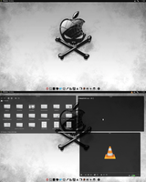 Chakra KDE 4.8 Black-n-White Goodness by CraazyT