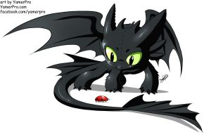 Chibi Toothless by Yamer by StarDragon77