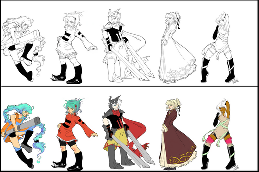 Character lineup by sievkatronshea