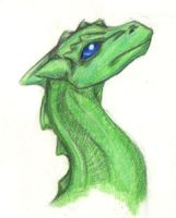 A Small Green Dragon (old art) by Skylanth