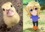 Cute Little Duck Hyoga by Luna-Akari