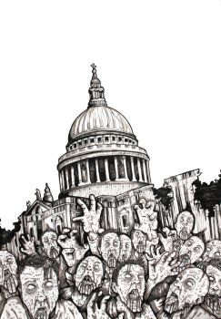 Zombies at St Paul's by ReVerbaration