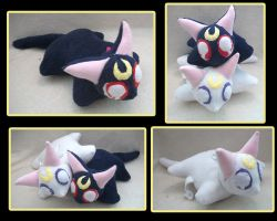 Luna and Artemis Pillow Pets by VanguardWingal