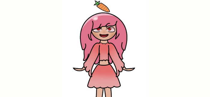 Pink slime in human form! by BashyLeaf