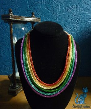Rainbow Viking Knit Necklace by Freak7109
