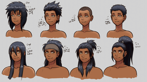 D-G hairstyles ref sheet by VanHeist