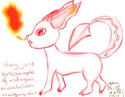 Dragon type Eeveelution by Lillytheeevee