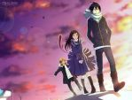 Noragami - Windy Rooftop [Fanart] by Nesallienna