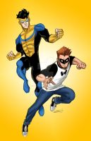 Invincible and Wonderboy by sketchmasterskillz
