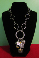 Silver Garden Charm Choker by BloodRed-Orchid