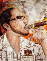 The Cohiba man by amoxes