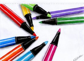 Colour Pens by Thatynha