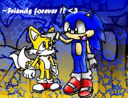 Sonic Tails Friends Forever by Joellinathedog