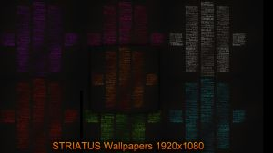 Striatus Wallpapers 7 colours 1920x1080 by DemonzzDesigns