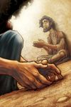 Jesus Heals a Blind Man by eikonik