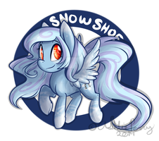 Chibi Snowshoe MLP OC by BlueKazenate