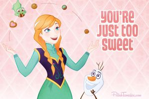 Disney | Frozen | Valentines | Card 1 by PolishTamales