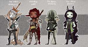 The Four Horsemen Adoptables Auction! [CLOSED] by PhoxTanks