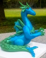 Polymer Clay Water Dragon by Valtira