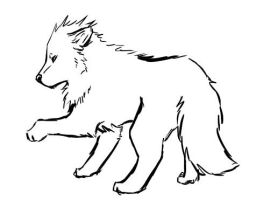 Wolf Lineart doodle by XxMaz-AlmightyxX