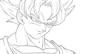 Just a remastered Goku lineart by carapau