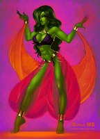 She-Hulk commission by MSonia