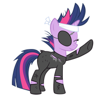 Future Twilight Likes to High Hoof by DrLonePony