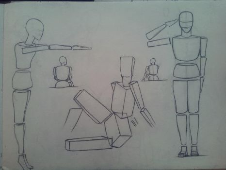 Fast way to learn how to draw the human body by ElMetmari