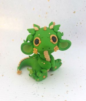 Green and Gold Dragon by Critterkins
