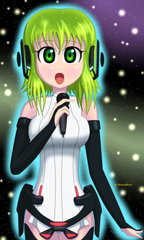 Gumi sing in the galaxy by NomadNoita