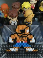 Sagat 8-bit bead art by h0lysharks
