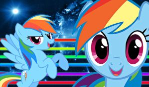 Rainbow Dash Wallpaper by alanfernandoflores01