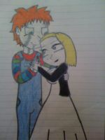 Chucky and Tiffany: plastic love by XxQueenOfMonstersxX