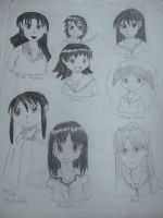People from Azumanga Daioh by taylor-of-the-phunk
