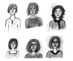 Sketches: People by LauraMartinArt