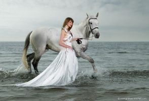 Girl and horse by foto-z