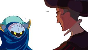 Claude and meta knight by FroShaDar