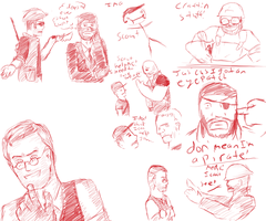 Team Fortress 2 sketches by Redcozy