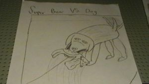 Super Bear VS. Dog by Indonesia-chan