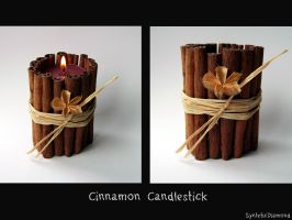 Cinnamon Candle holder by SynteticDiamond
