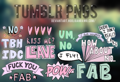 +Tumblr png's. by HooliganRawr