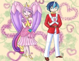 Princess Cadence and Shining Armor by Yunsildin