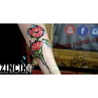 Martin Tattooer Zincik - Poppy abstract tattoo by TattooBulldog