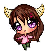 Yuni's Oc character: chibi Analesse by EndlessBlueSky