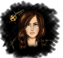 Katniss- The Girl on Fire by AnnieIsabel