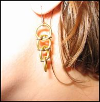 """This is Not Food"" earrings by Ahlana"