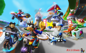 It's mario kart death race 2000 by kritken
